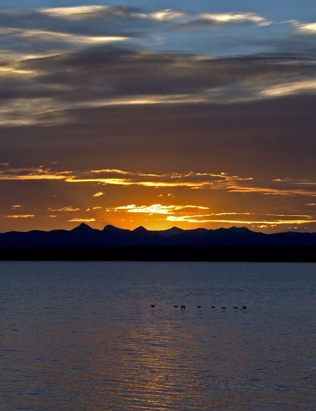 Sunrise in Yellowstone Lake. Shots taken from West Thumb Geyser area