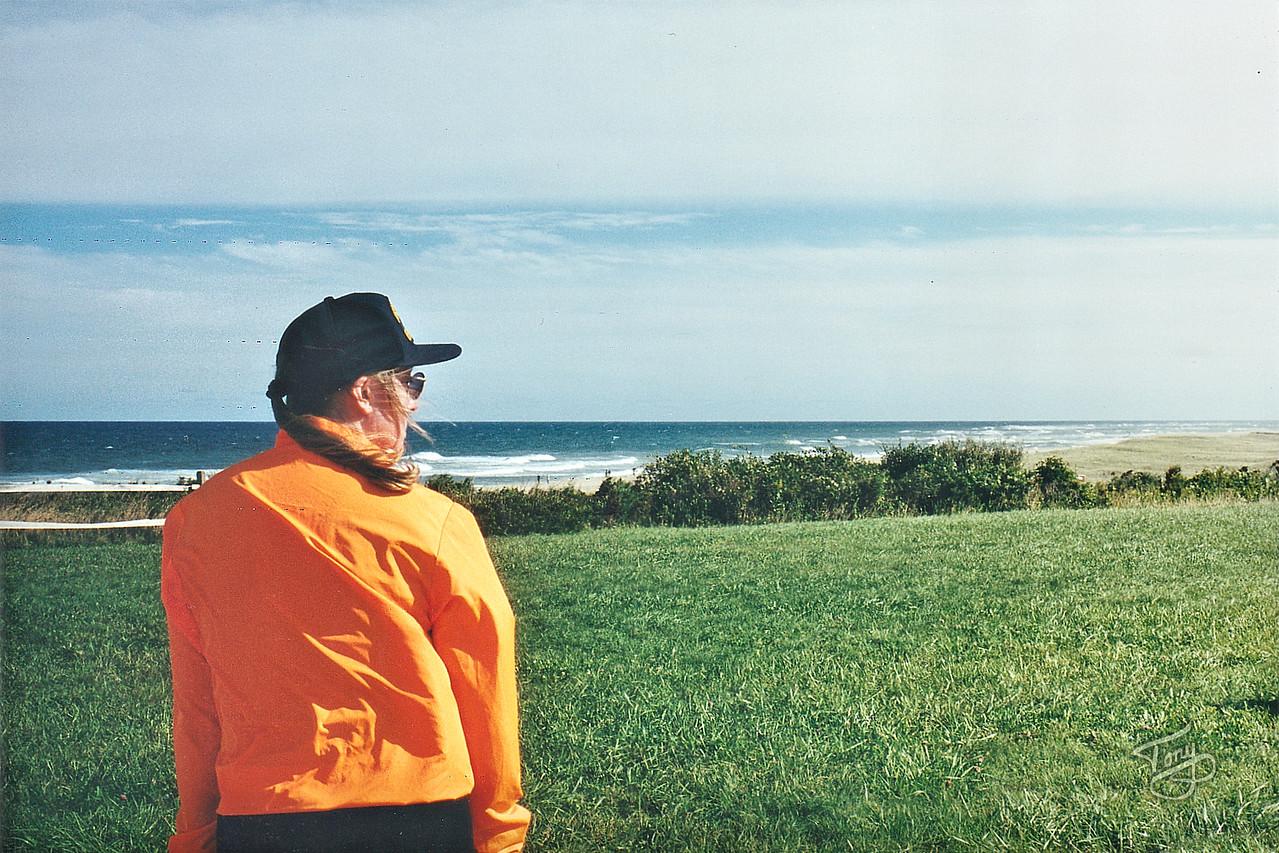 Eastham, MA - Coast Guard Beach - Judy Looking toward the Outermost House