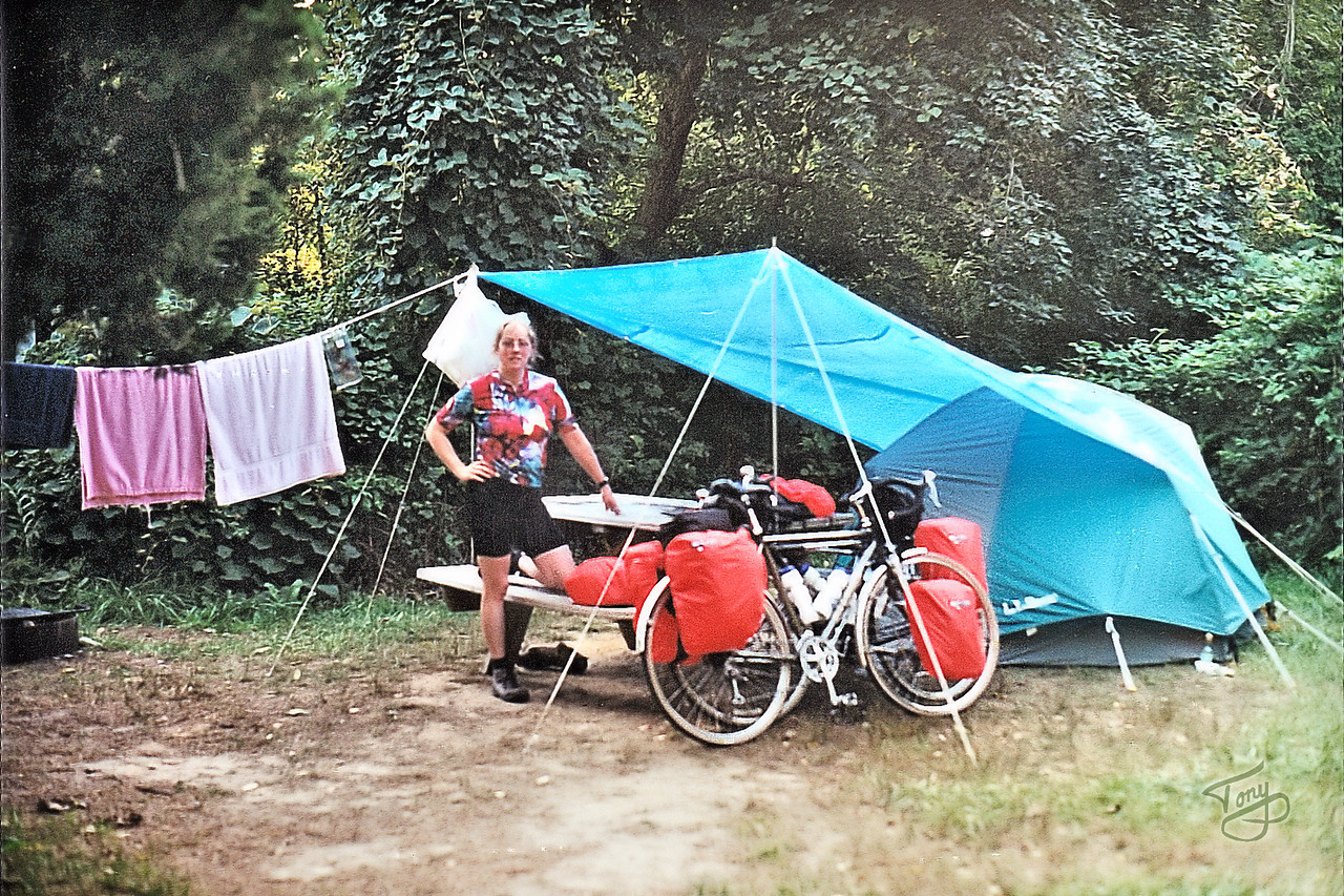 Our Campsite In Brewster - Yes, we brought all that gear on our bikes!
