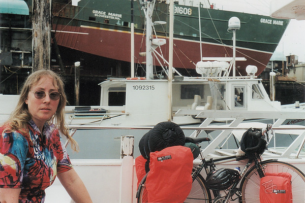 Our plan was to ride from home, camp in Anisquam, and take the morning Ferry from Gloucester to Provincetown, however, we were too late reserving a campsite, so a friend brought us and our bikes to Gloucester for the ferry.