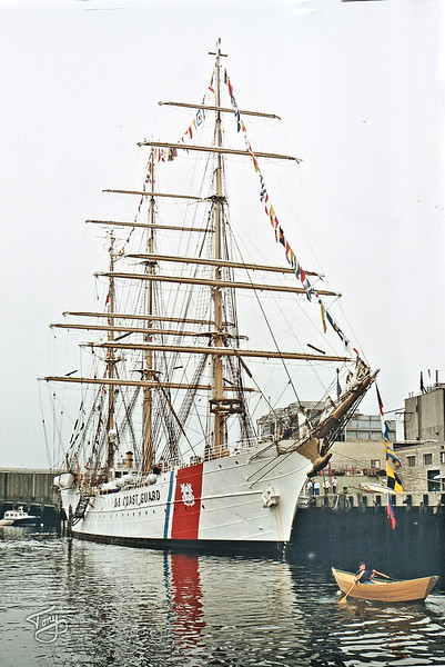 Gloucester Harbor - the US Coast Guard Eagle