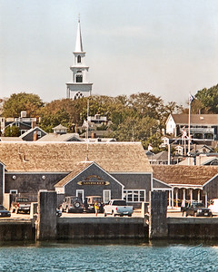 On the ferry, leaving Nantucket Harbor