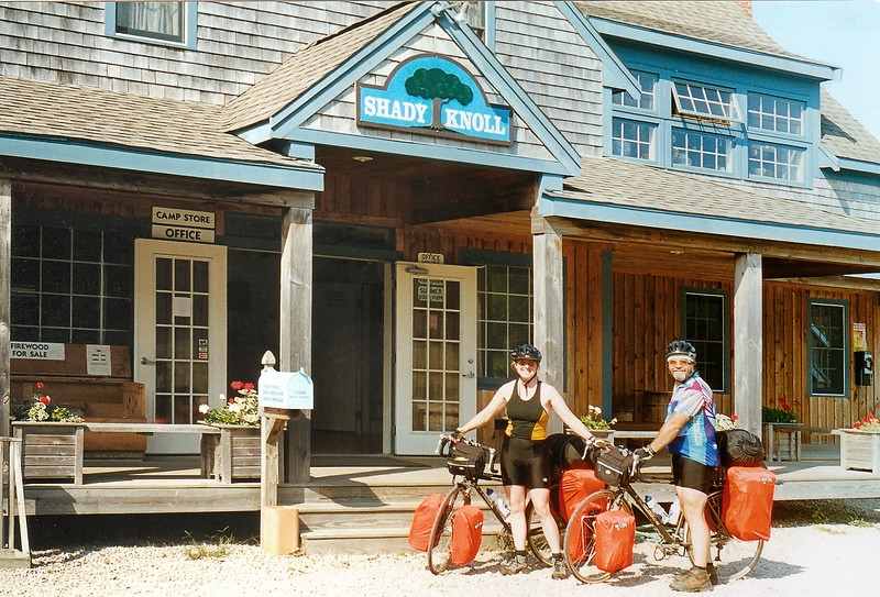"""Brewster, MA - Having broken camp, we bid farewell to <a href=""""http://shadyknoll.com/"""" target=""""_blank"""">Shady Knoll Campground</a>, and strike off for Provincetown and the ferry back to Gloucester."""