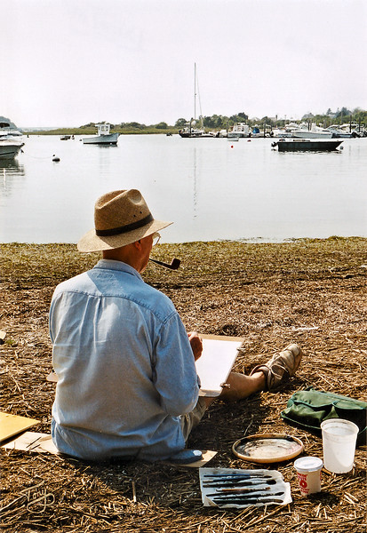 On our way to Chatham - Artist near Stage Harbor
