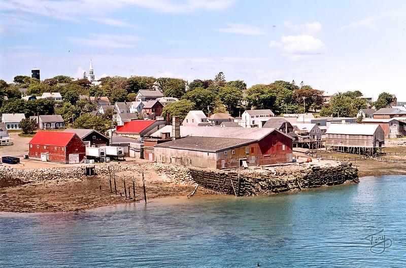 Lubec, Maine, as seen from the F.D. Roosevelt Memorial International Bridge
