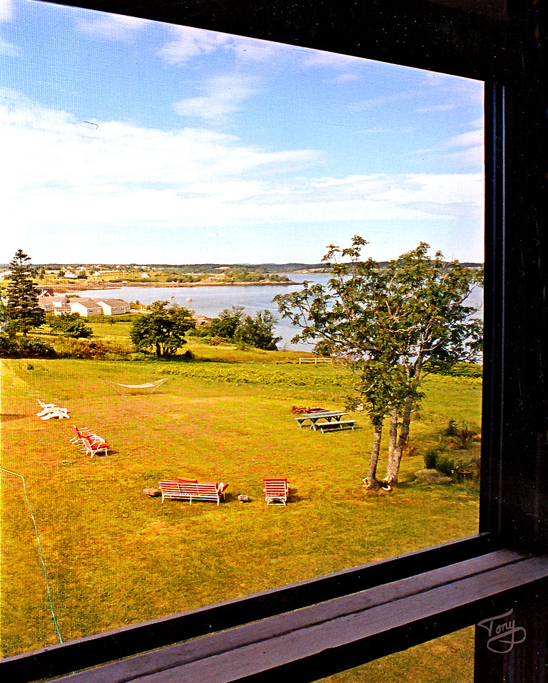 Lubec, Maine - View from our B&B window - <br /> <br /> The Picture I DIDN'T get was a bald eagle circling outside our window.