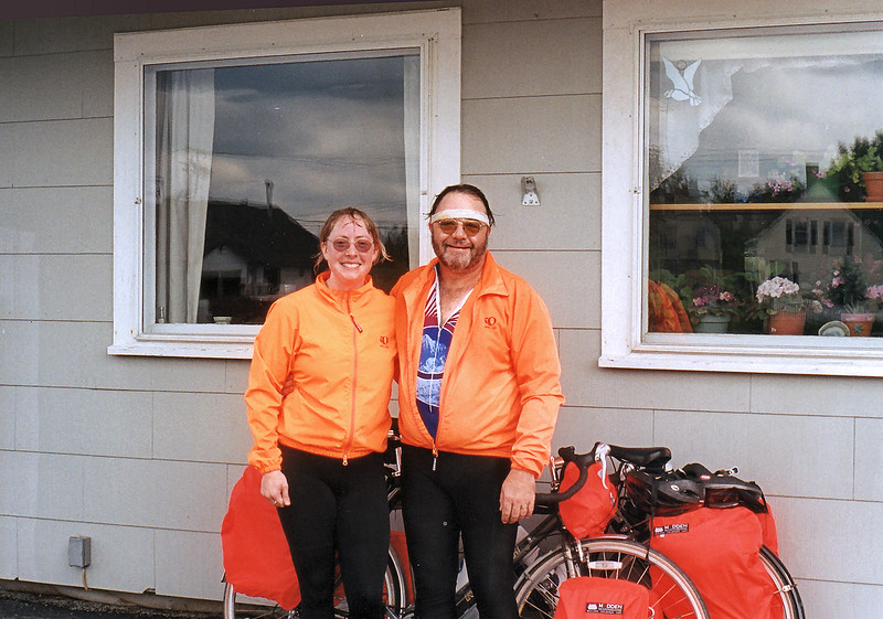 Arrival - <br /> <br /> back at our motel in Machias, having enjoyed a delightful first bicycle tour