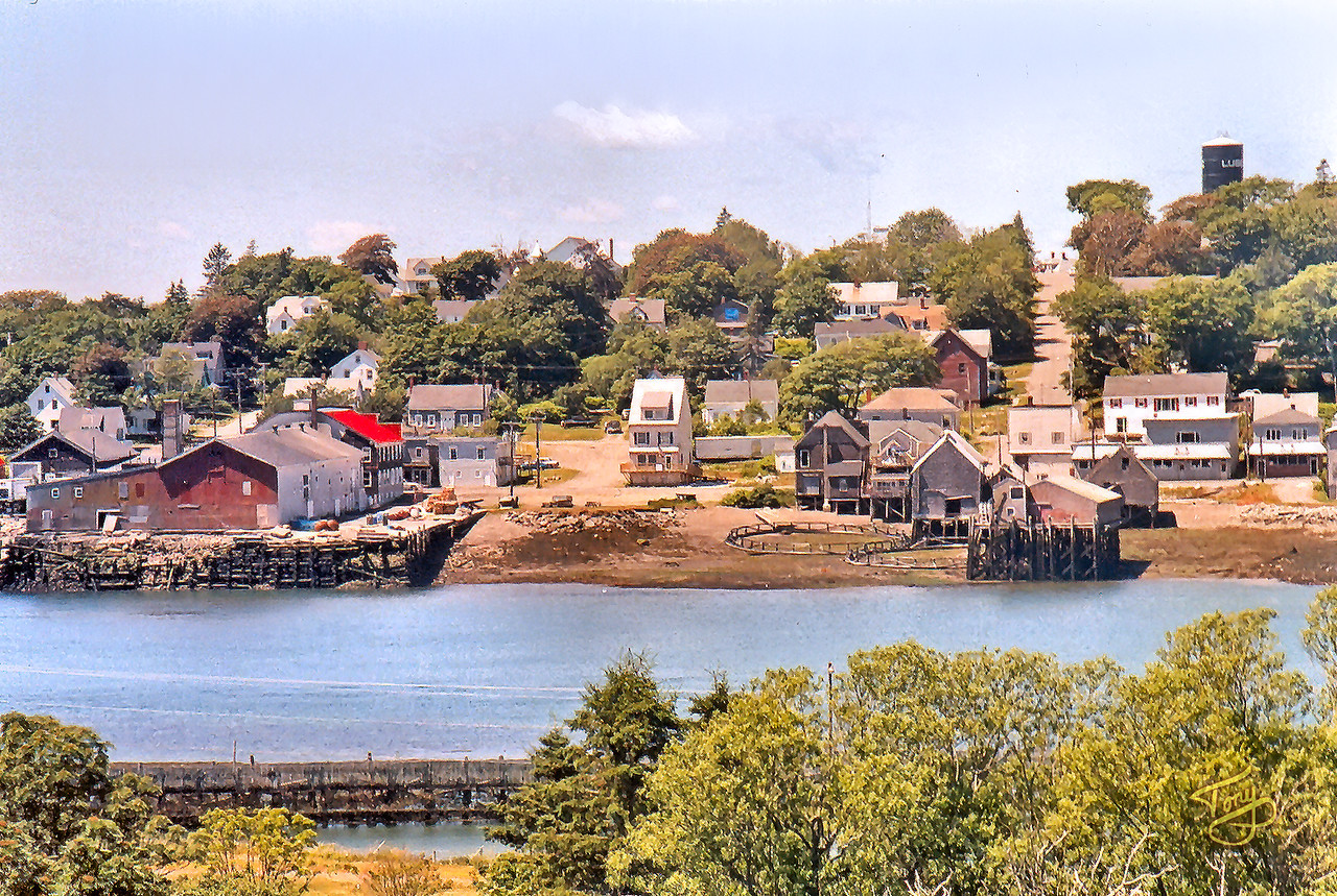 Lubec, Maine, as seen from Campobello Island 2