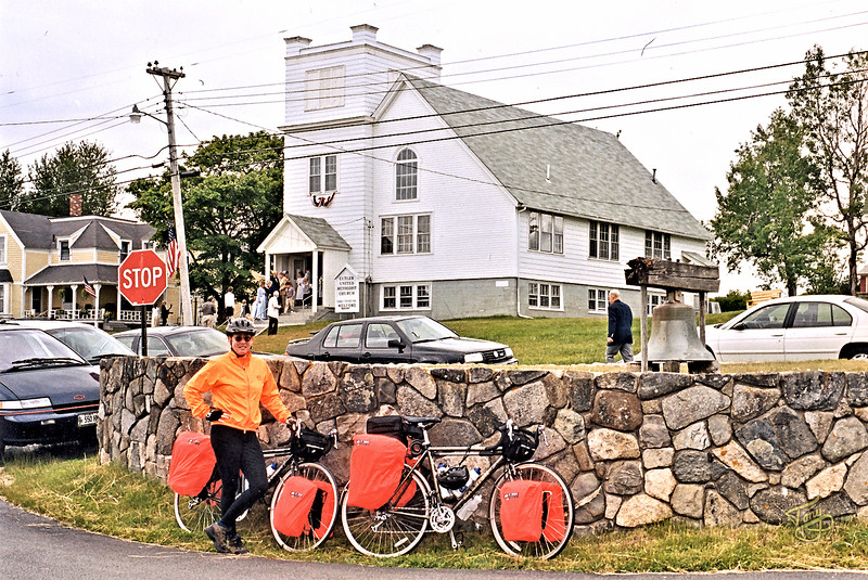 Cutler, Maine - Town Square - <br /> <br /> We snacked on Wild strawberries that grew in the square.