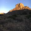 Chisos Basin sunset & moonrise