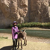 Keira made a friend in Boquillas Canyon