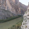 Paddleboarding Santa Elena Canyon. Mexico to the left of me, Texas on the right