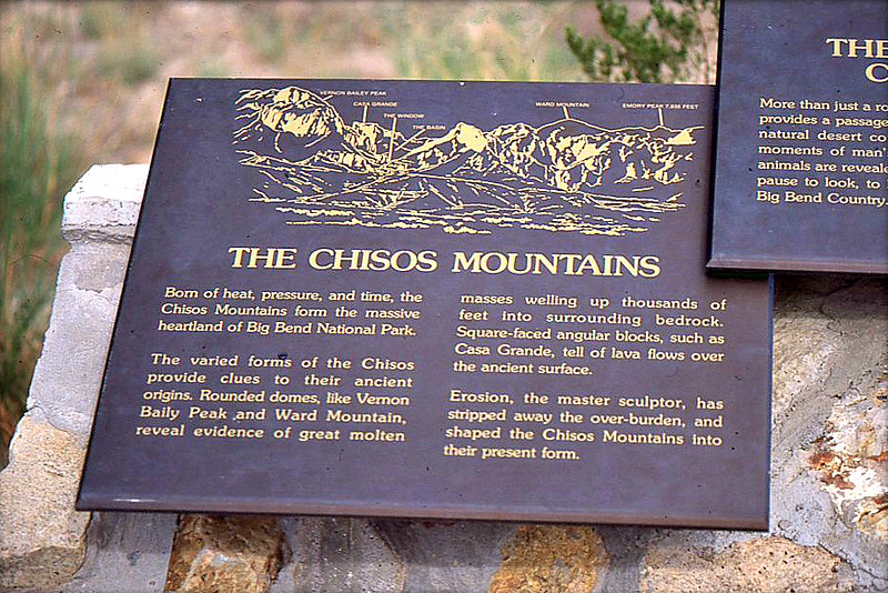 Description of the Chisos Mountains