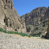 We've turned into a pullout by the road and have started hiking a trail into this canyon. It is very hot out here.