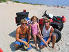 Caroline with Ricky and Aaron.  They are the lifeguards who helped her when a fish hook got stuck in her big toe.