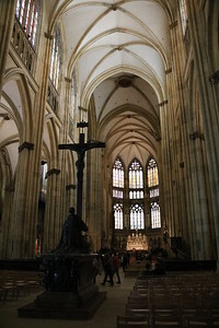 The interior of the cathedral in Regensburg.