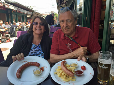 Dennis and Sue shared some local sausages or wurst.
