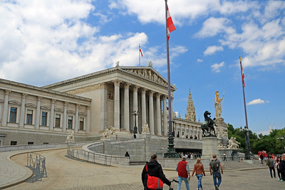 Next, we walked by the Austrian Parliament Building, in Greek Revival style, it was completed in 1883.