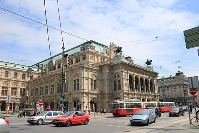 The Vienna State Opera House, one of the most famous in the world.  It was completed in 1869.  There is an opera performed almost every day for the 10 month season plus ballets and performances of the Vienna Philharmonic Orchestra.