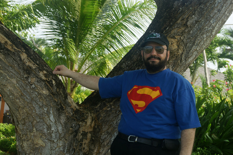 Superman taking a break