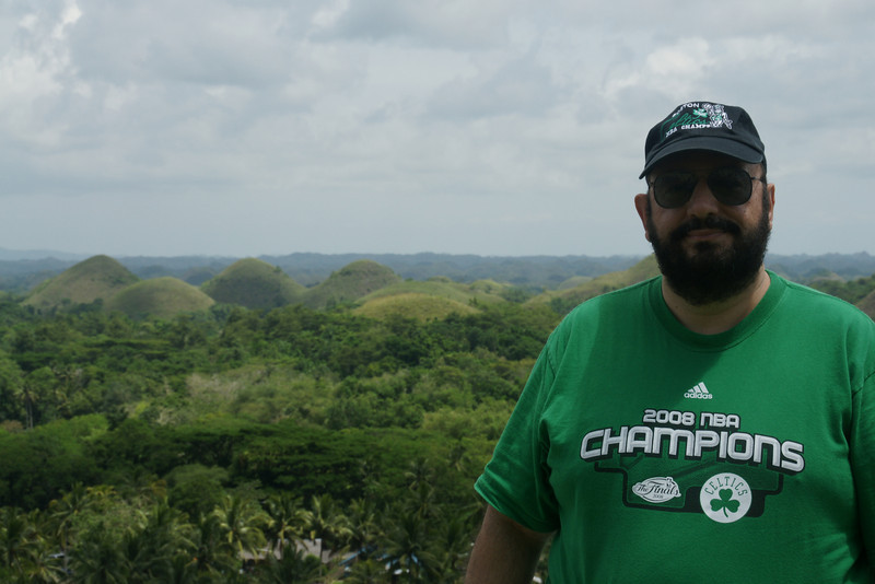 Chocolate hills in the background