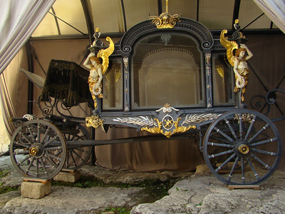 An old time carriage.