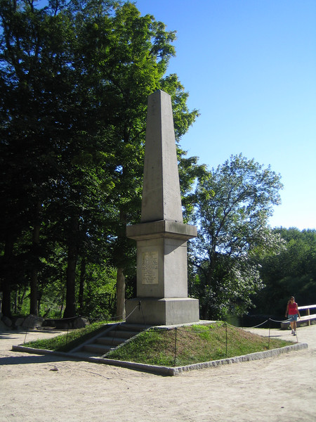The Old North Bridge Monument in Concord