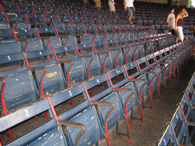 Original ballpark seats - the oldest seats still in use!