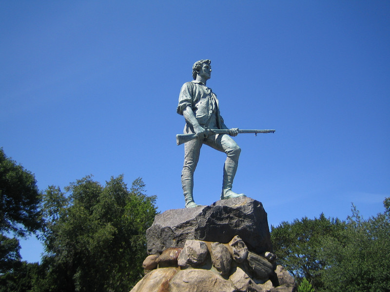 The Minuteman statue in Lexington