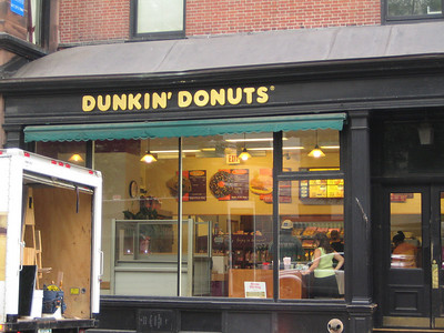 Dunkin' Donuts were everywhere!  This was a fancier one near the State House in Boston.
