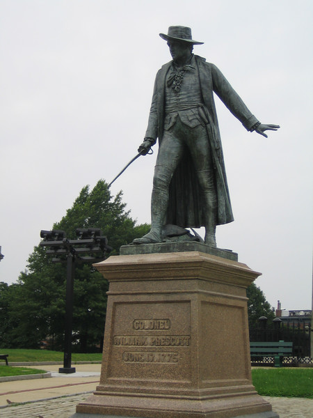 Statue of Colonel William Prescott who led the American forces at the battle of Bunker Hill