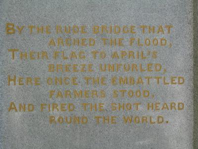 On the Old North Bridge Monument - Concord