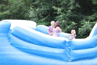 Slide fun at the Hauck family reunion at John and Julias