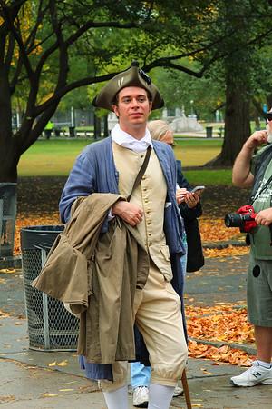 "Our tour guide, ""John Adams."""