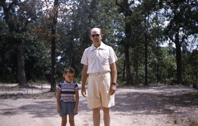 William A. Shaffer and G. A. Shaffer at a Roadside Park along U. S. 66.