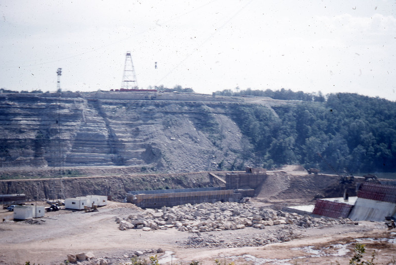 Table Rock Lake Dam Construction