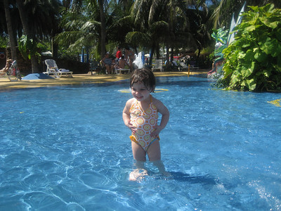 Isabella had a blast the water park in Fortaleza