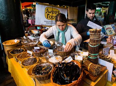 Licorice vendor. Borough Market, London.