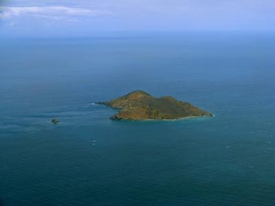 Great Tobago, Watson's Rock Aerial Photo