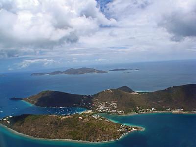 Jost Van Dyke, West End Tortola Aerial Photo