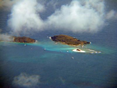 Little Jost Van Dyke, Sandy Spit, Green Cay Aerial Photo