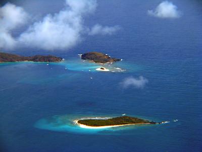Little Jost Van Dyke, Sandy Spit, Green Cay, Sandy Cay Aerial Photo