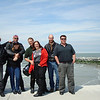 From left to right : George, Gilles, Chevonne and me, Mick, Sarah, Adam and Anthony in Oostende.
