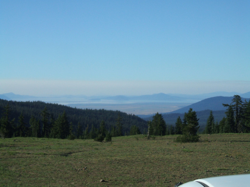 looking south from rim of Crater Lake