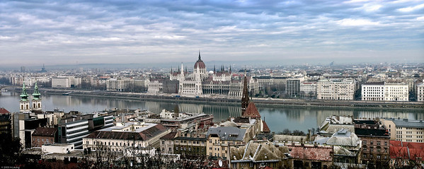 Budapest Panorama.  Merged 3 pictures to create this image.