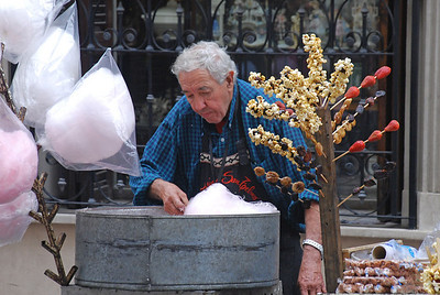 Cotton Candy Man in San Telmo