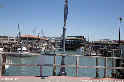 Looking at the dock on Al Scoma way.
