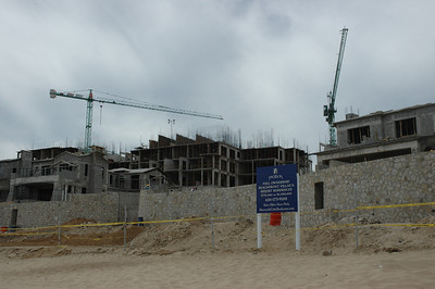 Another huge resort under construction closer to Cabo. they were working day and night on this project.
