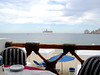 The hotel restaurant where we had lunch most days and every day different cruise ships werevisiting