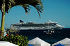 Another cruise ship visits for the day. Every morning one or two different boats would arrive and leave in the evening